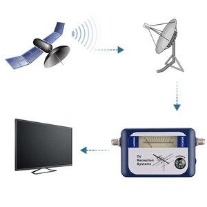 Image 3 - Forstandard DVB T محدد رقمي إشارة مكتشف استقبال التلفزيون مع البوصلة هوائي مؤشر كثافة متر هوائي عبر الأقمار الصناعية