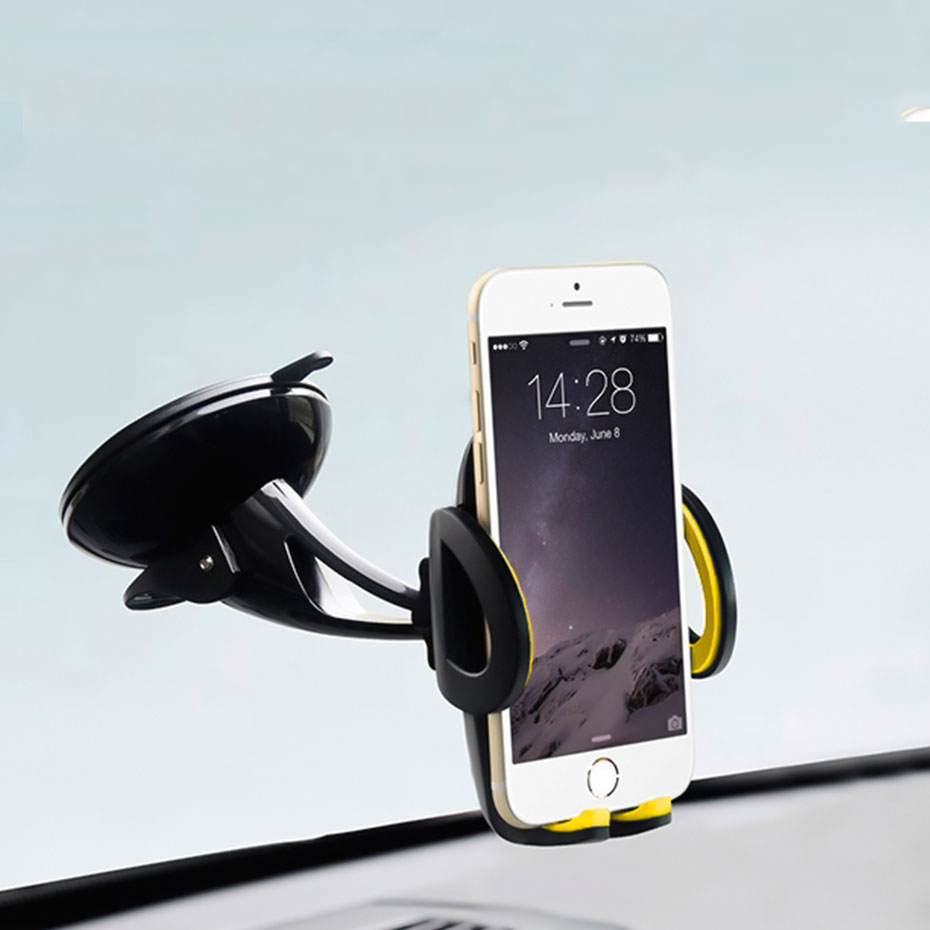 YWEWBJH 360 Degree  Adjustable Car Mount Gravity Phone Holder for iPhone X 8 5 6 7 Samsung Triangle Design GPS Stand
