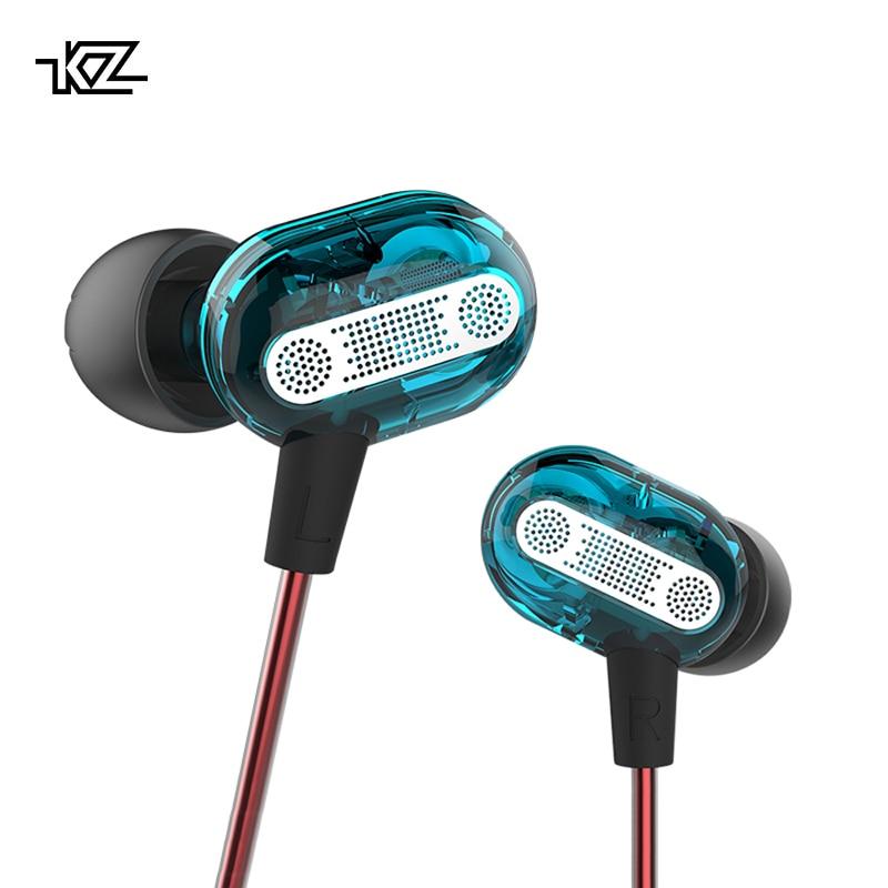KZ ZSE Dynamic Dual Driver Earphone In Ear Headset Audio Monitors Headphone Gaming Noise Isolating HiFi Music Sports Earbuds