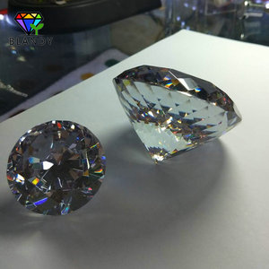 Image 4 - Big Size 30~100mm Round Brilliant Cut CZ Stone 1pc/lot 5A Quality White Cubic Zirconia Synthetic Gems For Jewelry