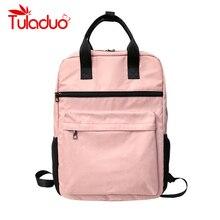 Купить с кэшбэком Tuladuo Women Backpacks Arrival Preppy School Bags Mochila Shoulder Large Travel Bags for Teenager Girls Nylon Backpacks Ladies