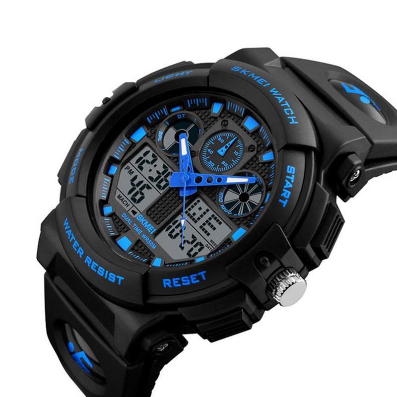 SKMEI New S Shock Men Sports Watches Big Dial Quartz Digital Watch For Luxury Brand LED Military Waterproof Wristwatches