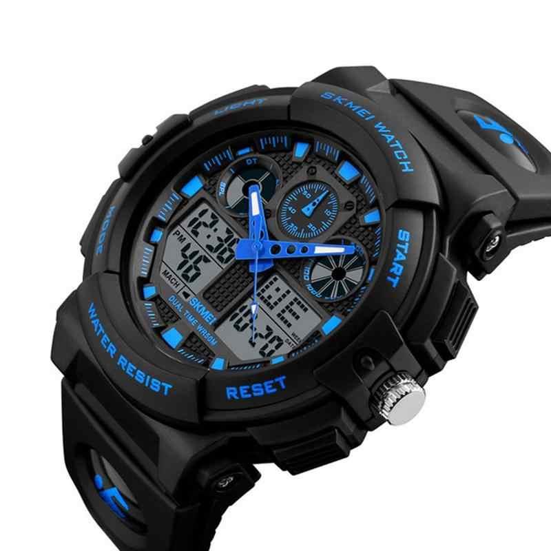 SKMEI nuevo S Shock hombres relojes deportivos gran Dial