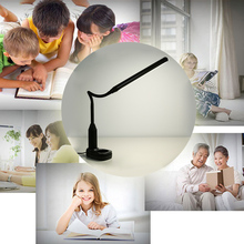 Desk Clamp Lamp 5W LED Eye Protective Light, Dimmable Bendable USB Powered Touch Sensor Control