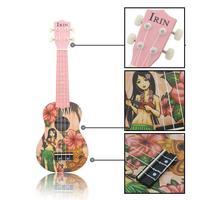 Mini Guitar Ukulele For Hawaiian 21 Inch Child Small Guitar Adult Cartoon Girl Performance Music Instrument For Beginner Guitar