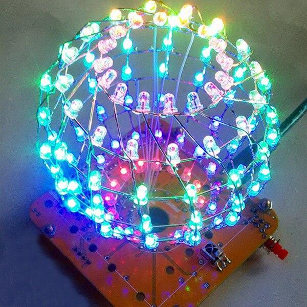 Commercial Lighting Colored Ball Diy 3d Led Light Cube Kit 16x9 Advertising Light Led Music Spectrum Diy Electronic Kit For Friends Gift Present Elegant Shape Advertising Lights