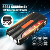 68800mAh 12V 4USB Car Jump Starter Power Bank 600A Car Battery Booster Charger Starting Device Petrol Diesels Car Starter