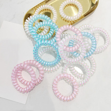 Hot 1PC/2PCS Telephone Line Women Hair Ropes High Quality Elastic Kid Ponytail Holder Accessories