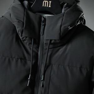 Image 4 - Varsanol Thick Parka Men Jacket Coat 2018 New Brand Hooded Cotton Parkas Men Solid Hooded Pocket  20 Degree Parka Men