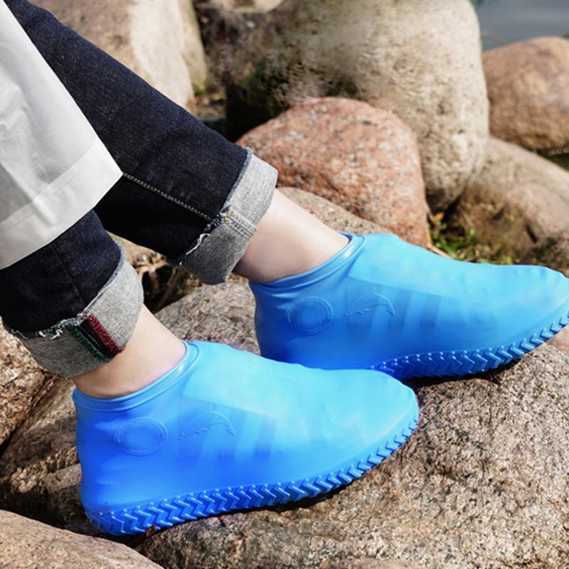 Reusable Outdoor Non-Slip Waterproof Silicone Sneakers Accessories Cover Thick Resistant Rain Boots Rainproof Shoe Cover