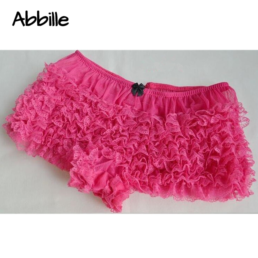 Detail Feedback Questions about Abbille Womens Ladies Ruffled Lace Bloomers  Knickers Lingerie Burlesque panty Frilly Knickers 2018 on Aliexpress.com ... a8ae9a8a4