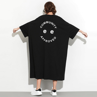 #1682 Purple Black Vestidos Short Sleeve T Shirt Dress For Women Oversized Loose Long T shirt Dresses Plus Size 4XL 5XL 6XL