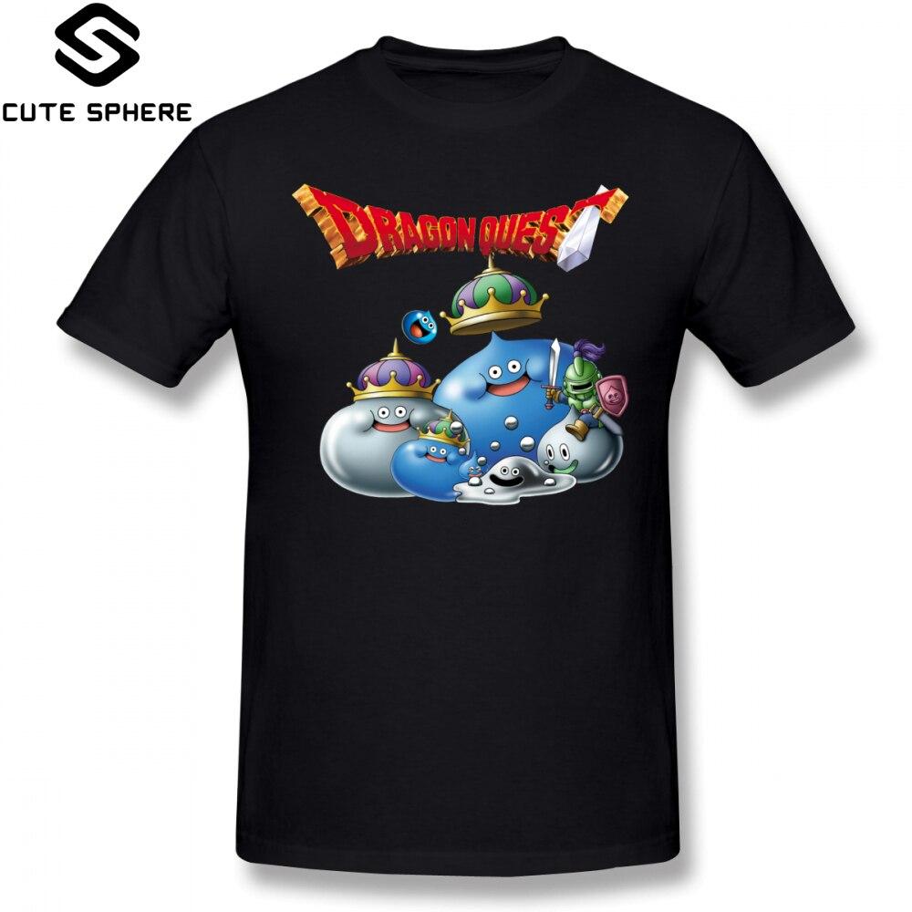 Dragon Quest T Shirt Dragon Quest Slime T-Shirt Short Sleeves Oversize Tee Shirt Casual Print Cute Men 100 Cotton Tshirt