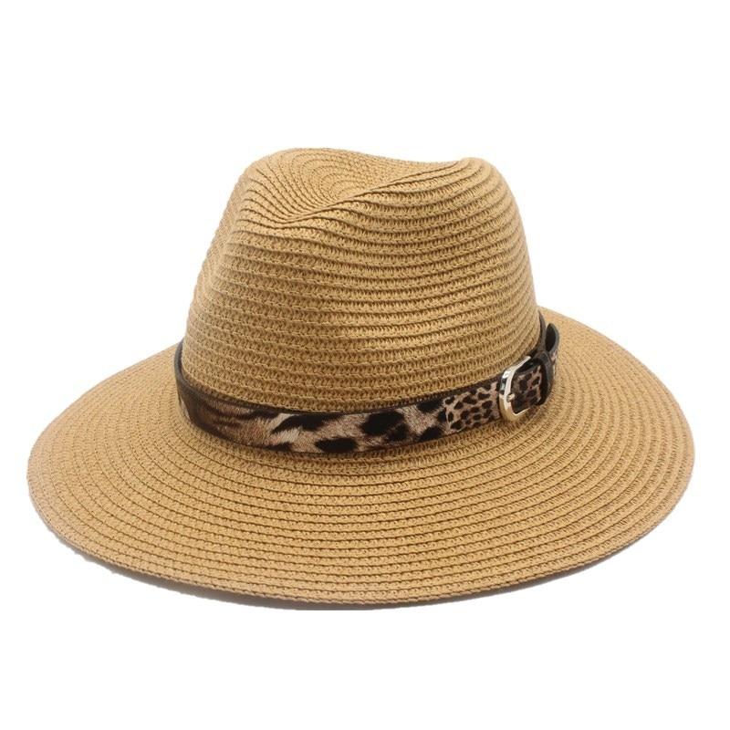OZyc Fashion Summer Women Toquilla Straw Panama Sun Hat For Elegant Lady Queen Floppy Wide Brim Bobo Sunbonnet Beach Fedora
