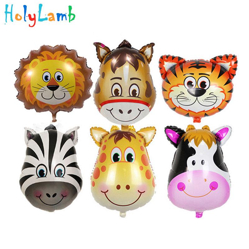3Pcs/Lot Animal Head Light Balloon Children Festival Birthday Party For Kids Cartoon Hat Toys Birthday Party Toys