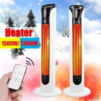 2000W 220V 50Hz PTC Portable Heating Electric Heater Air Warmer Tower Fan with Remote Control Office Intelligent Automatic