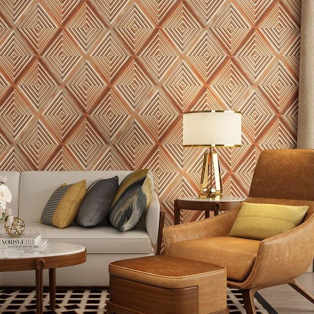 Papier peint treillis noir 3d jaune   Papier peint de fond de salon, chambre à coucher et salle à manger, papier peint doux