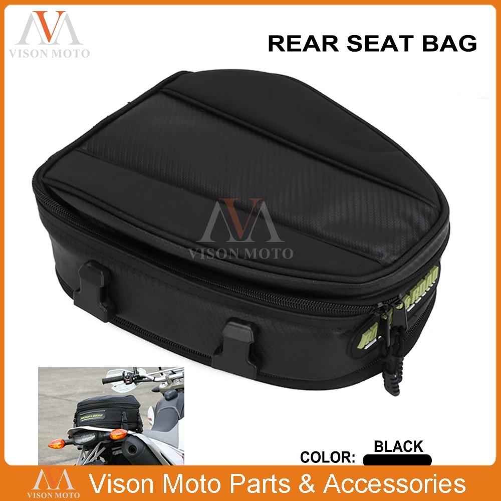 motorcyle black rear seat bag waterproof cover  honda suzuki ktm yamaha kawasaki enduro