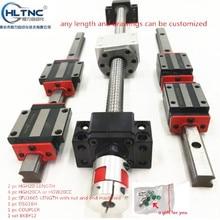 Guide linéaire à assemblage élevé, vis à billes à charge carrée, 2 pièces HGH20 1250mm + 1 jeu SFU1605 + 4 hgw20cc, module de mouvement linéaire, 2 pièces