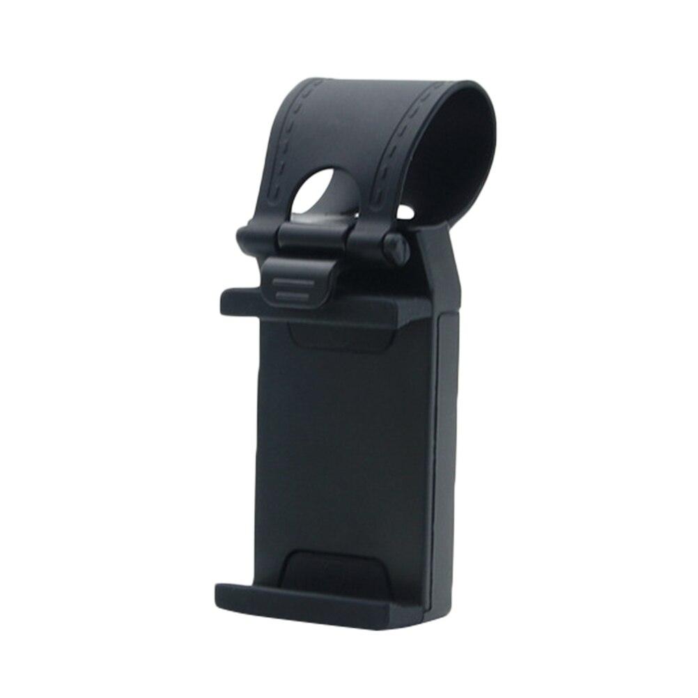 Portable Multi-functional Adjustable Hands-free Car Steering Wheel Cell Phone Mount Socket Clip Holder for iPhone Samsung Phone steering wheel phone holder