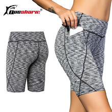 Quick Dry Women's Running Compression Gym Workout Shorts With Pocket