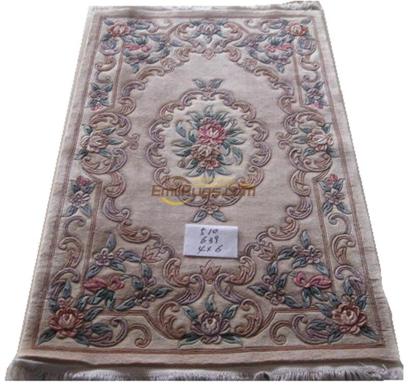 Grand tapis Floral Antique Savonnerie française tapis faits à la main tapis Style ethnique laine tapis à tricoter