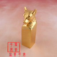 Chinese Style 24 Karat Gold Plated Alloy Stamp Dog Shape For Birthday Gift Stamps for Scrapbooking