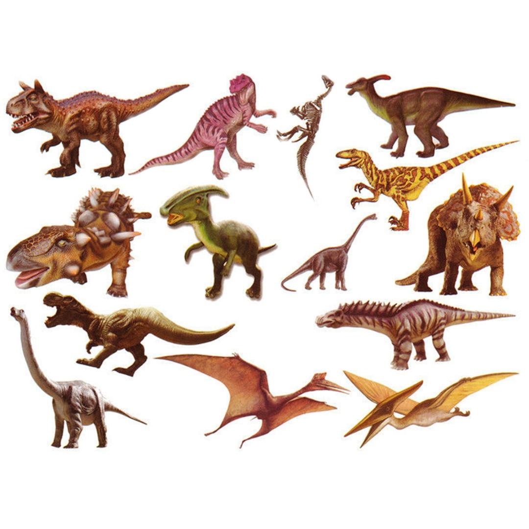 Shellhard 1pc Waterproof Dinosaur Temporary Tattoo Stickers Cute Dinosaur Animal Fake Body Art Tattoo Stickers For Kids Children