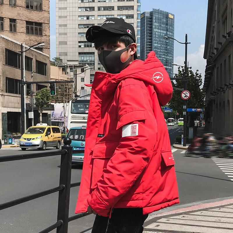 Black Abrigo Multi Con Azul rojo bolsillo Color Camisa Capucha Sólido Algodón Invierno Gruesa Hombres Los Rojo Casual Herramientas negro Nuevo De amarillo Viento amarillo 2018 negro Es Bx7UqYSw7