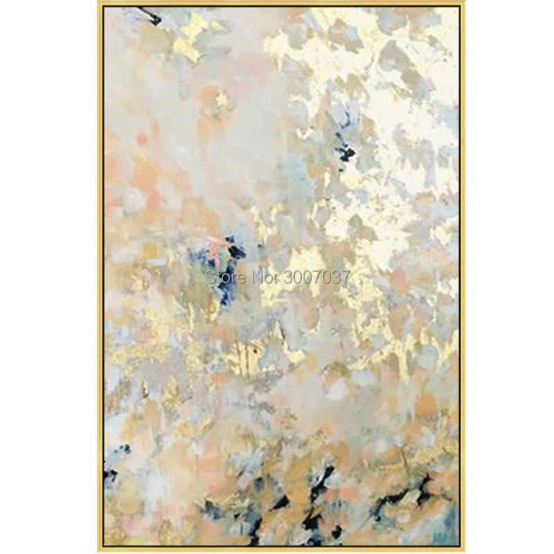Picture Creative Imagine handmade Canvas Painting Abstract oil painting gold color Wall Art Entrance Office Bedroom