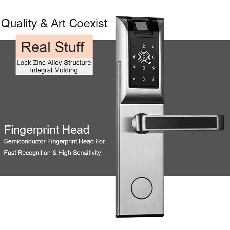 Eseye Digital Door Lock Smart APP Bluetooth Password Fingerprint Lock For Home Apartment Electronic Door Lock image