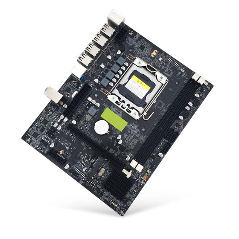 X79 LGA 1356 Pin carte mère de bureau RECC DDR3 serveur CPU carte mère DDR3 Double Double canal PCI-E X16 pour Intel H61 Hexa Core