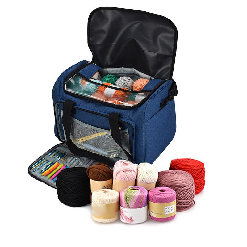 Sturdy Light Bag Yarn Storage Bag Household Portable Tote Storage Case For Crocheting Hook Knitting Needles Sewing Accessories