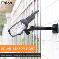 Eslas LED Solar Light PIR Motion Sensor 800LM Super Bright Solar Lamp IP65 Waterproof Solar Powered for Outdoor Garden Wall Lamp
