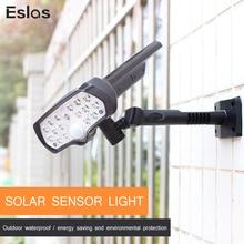 цена на Eslas LED Solar Light PIR Motion Sensor 800LM Super Bright Solar Lamp IP65 Waterproof Solar Powered for Outdoor Garden Wall Lamp