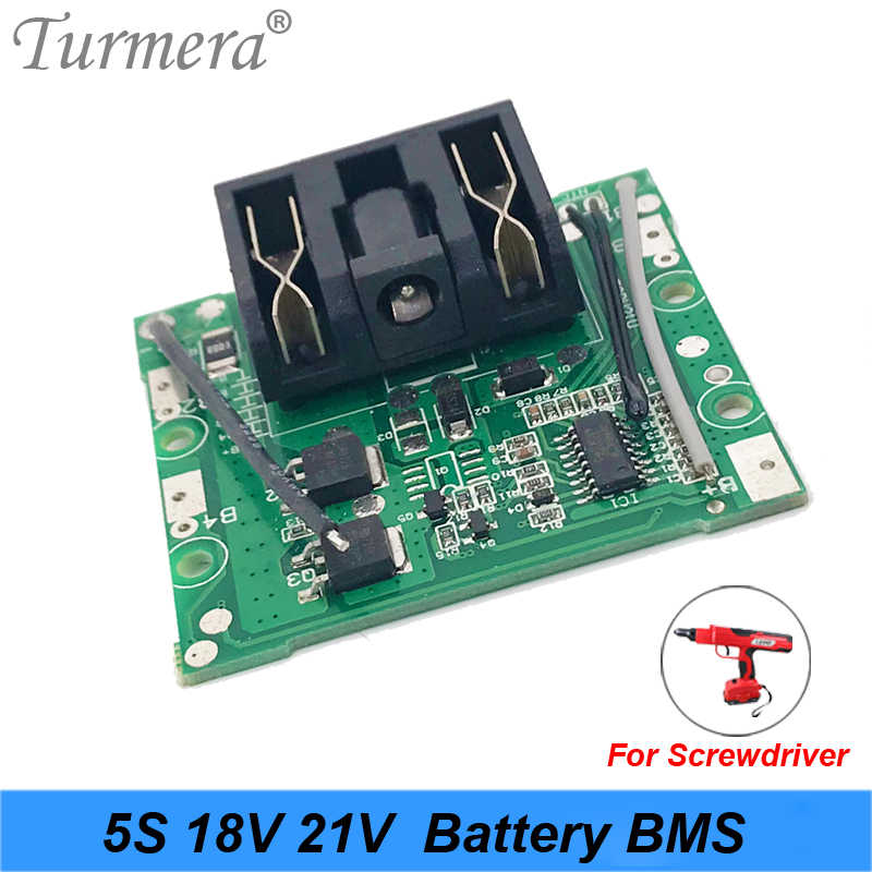 5S 18v 21v 15A Li-ion Lithium Battery BMS 18650 battery screwdriver shura Charger Protection Board fit for dewalt