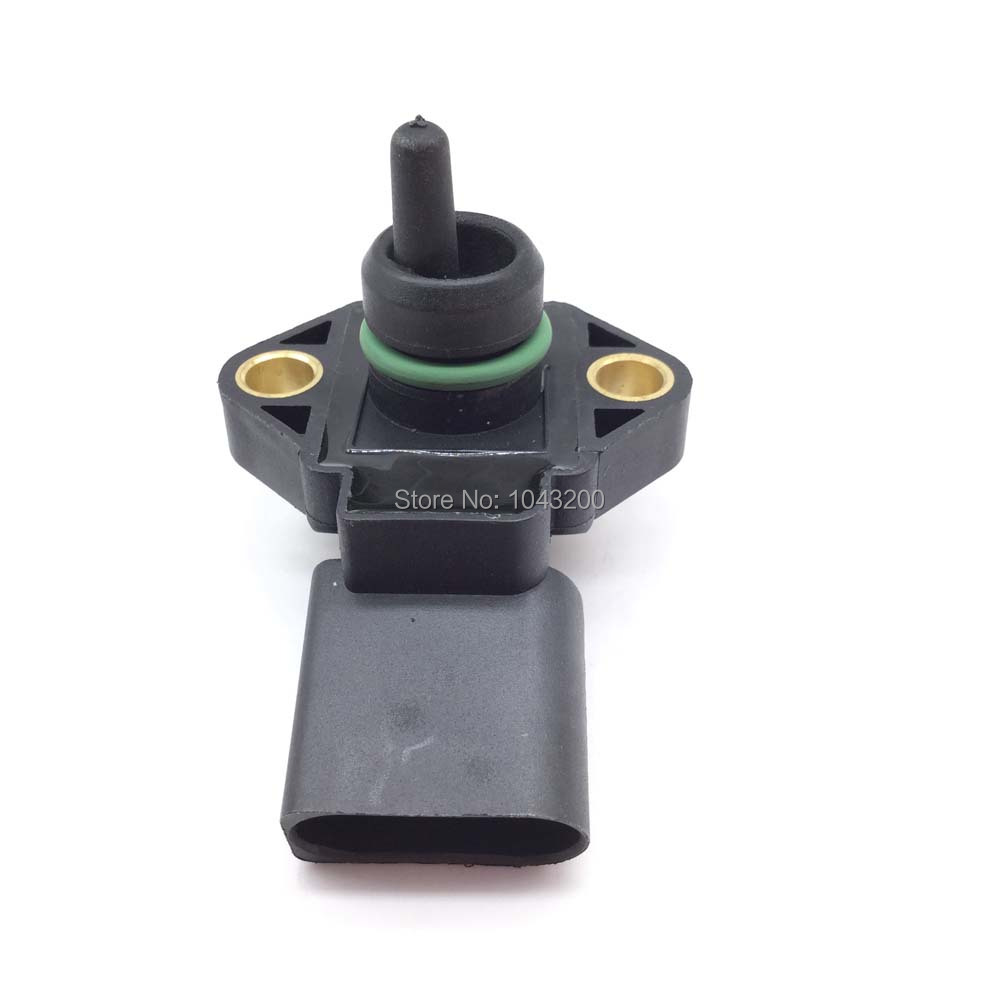 0281002177 New Map Pressure Sensor For Vw Audi Seat Skoda 1 9 Tdi OE 038906051 062906051 0281 002 177 in Pressure Sensor from Automobiles Motorcycles