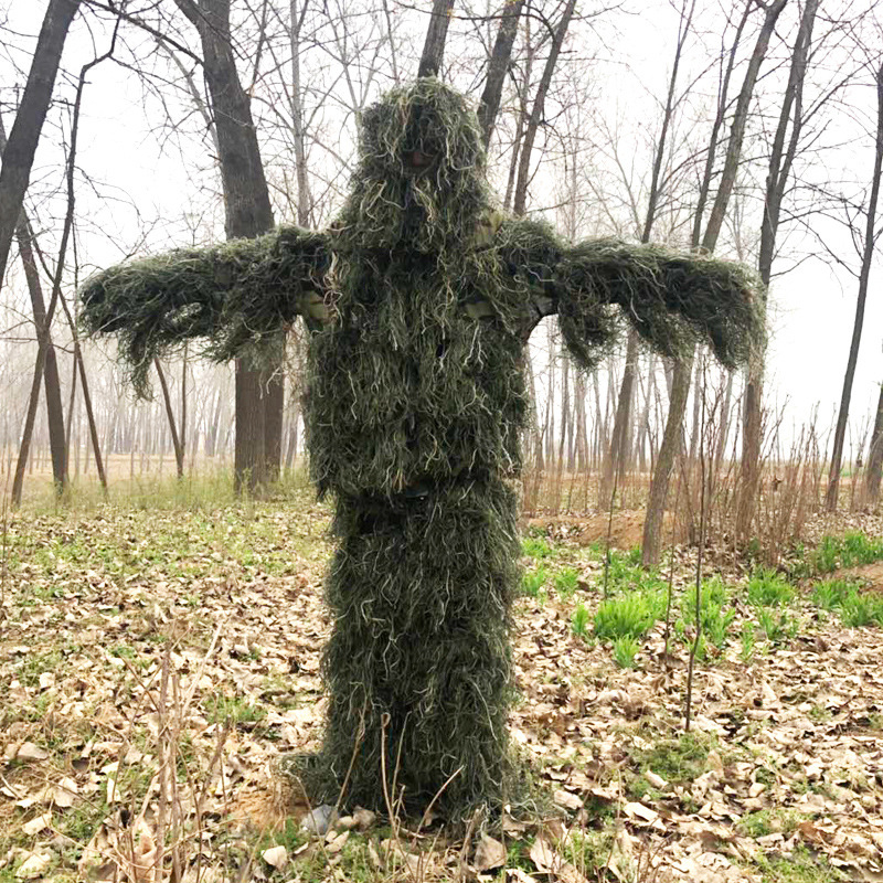 Field Jungle Birdwatching Hunting Stealth Suit Army Fans Outdoor CS Camping Training Sniper Camouflage Tactical Ghillie ClothesField Jungle Birdwatching Hunting Stealth Suit Army Fans Outdoor CS Camping Training Sniper Camouflage Tactical Ghillie Clothes