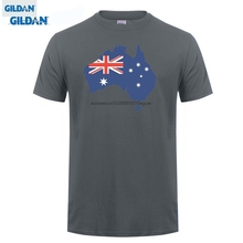 GILDAN Fashion T-shirt Men Clothing Australia T Shirt Flag Of From Tee