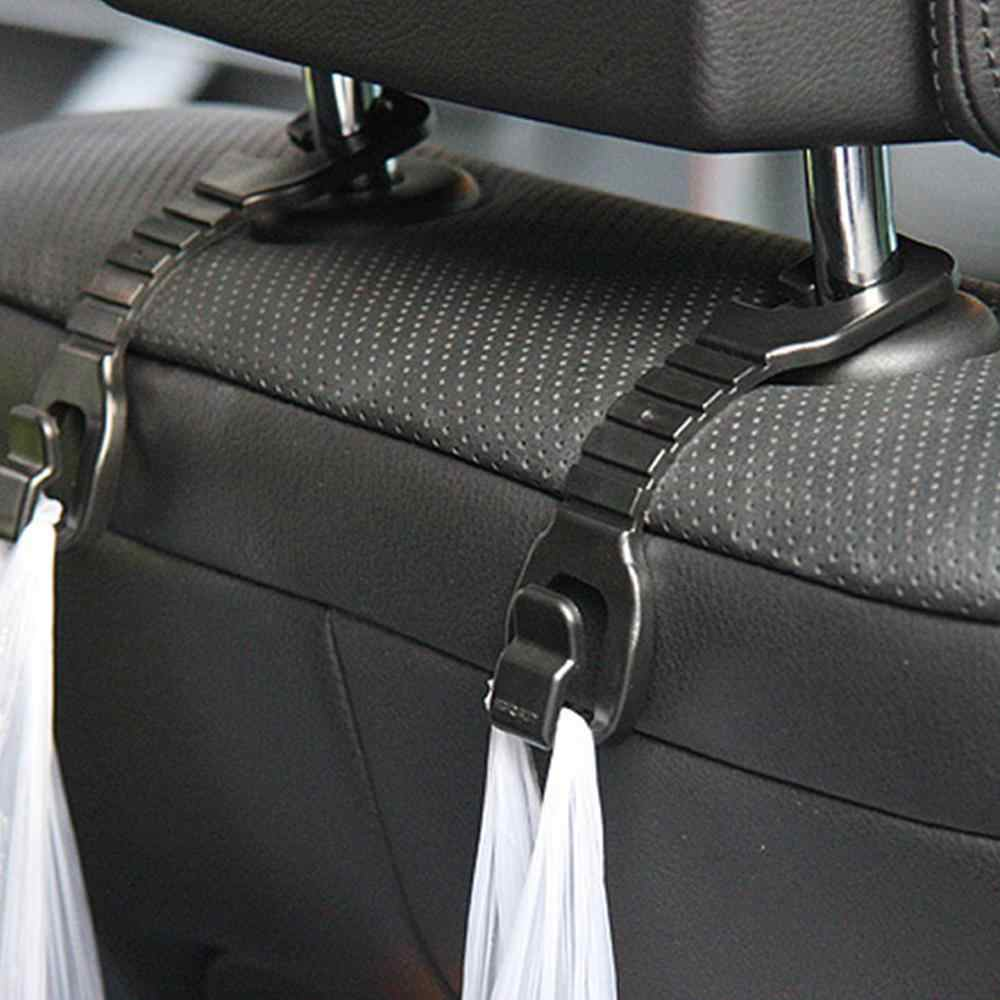 2pcs Car Seat Hook Hanger Car Clips Shopping Bag Holder Storage Holder Clips Universal Headrest Mount Storage Hook Car Styling