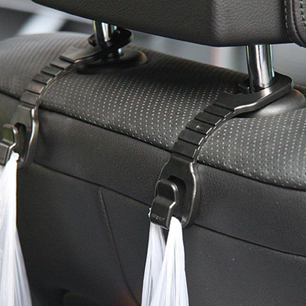 2pcs Car Seat Hook Hanger Car Clips Shopping Bag Holder Storage Holder Clips Universal Headrest Mount Storage Hook Car Styling
