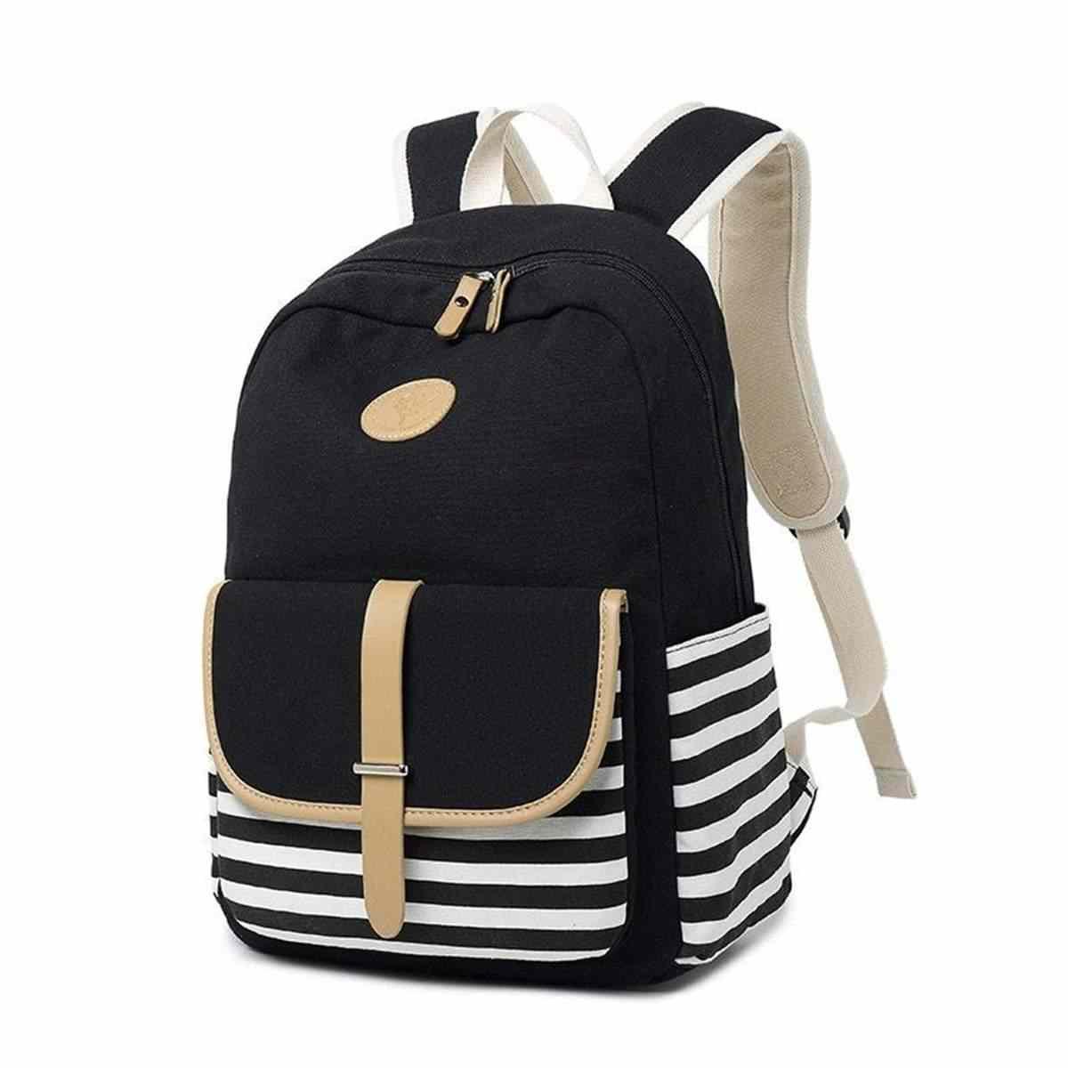 3 шт. набор рюкзаков женские сумки на плечо холщовые Школьные Сумки подростковая Студенческая сумка для книг полосатые сумки через плечо дорожная сумка