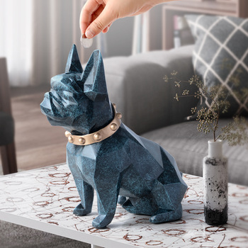 french bulldog coin bank box piggy bank figurine home decorations coin storage box holder toy child gift money box dog for kids popular cartoon cactus piggy bank resin crafts money box home desktop room decorations ornaments for children kids
