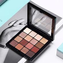 ICYCHEER Makeup 16 Colors Nude Eye Shadows Hot Peach Palette Smokey Eyeshadow Smoky Cosmetics Matte + Shimmer Warm