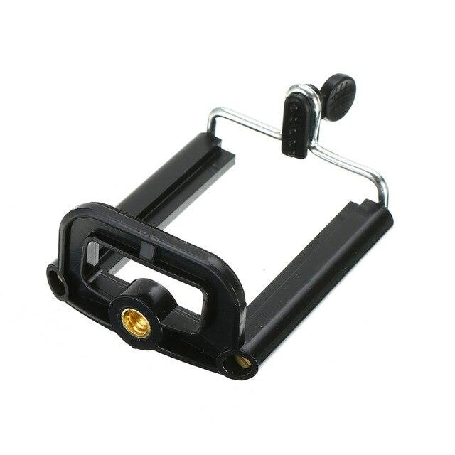 1 pcTripod Para Câmera Do Telefone Móvel Celular Stand Holder Clip Stander Tripe Monopé Adaptador de Clipe Para O Telefone