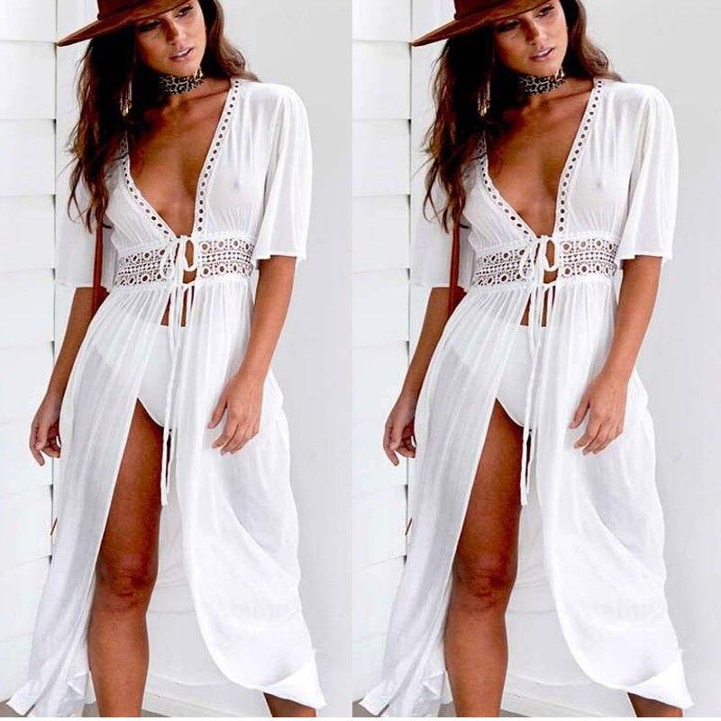 UK Womens Gold Sequin Moon Star Mesh Beach Dress Bikini Cover Up Summer Swimwear