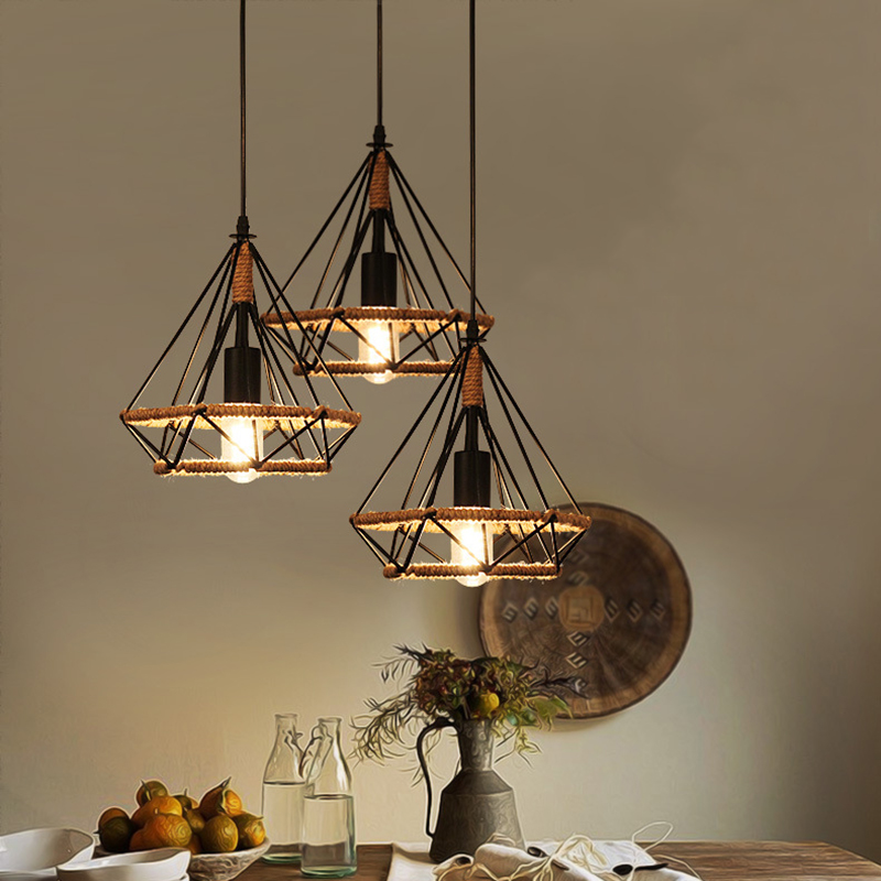Fashion Retro Industrial Ceiling Pendant Shade Lamp Iron artPendant Ceiling Light Cover Chandelier dining room Home DecorFashion Retro Industrial Ceiling Pendant Shade Lamp Iron artPendant Ceiling Light Cover Chandelier dining room Home Decor
