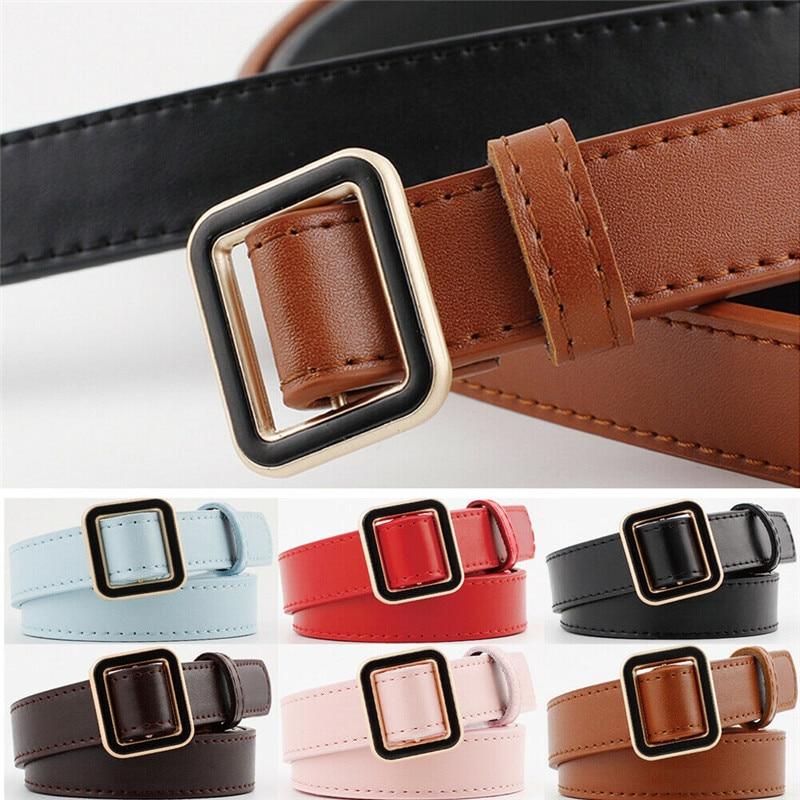 2019 new ladies fashion trend casual belt leather wild decoration thin waist
