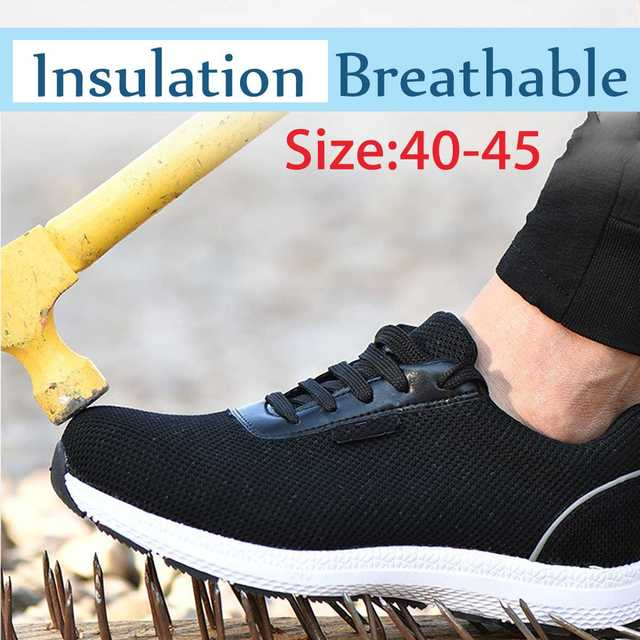 0c8d568be0d3 Men Lightweight Steel Toe Cap Work Safety Shoes 6KV Insulation Reflective  Anti-puncture Breathable Construction