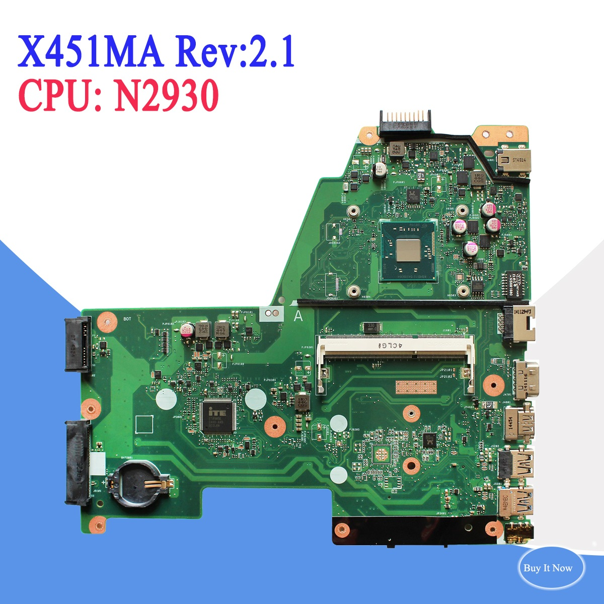 For ASUS F451M X451M X451MA laptop N2930 CPU motherboard X451MA REV 2.1 DDR3 Free Shipping 100% test